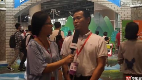 2015年新华集团少儿馆负责人接受毕加展览采访